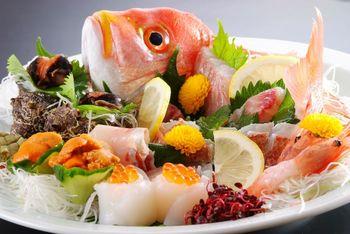 旬魚のお造り(姿盛り)
